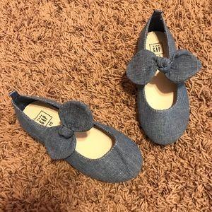 Gap toddler denim bow flats